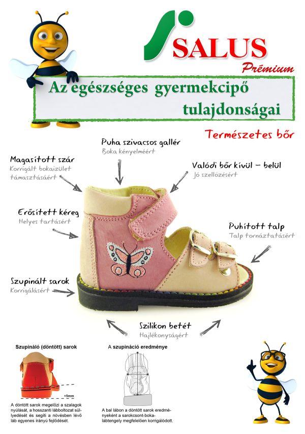 SALUS gyerekcipő tulajdonságai