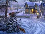 Karácsonyi és újévi képeslap